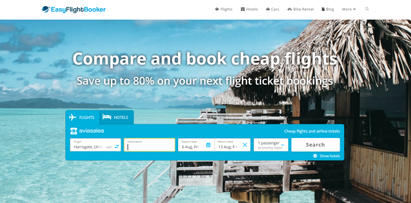 EasyFlightBooker.com - Automated Travel Site, Potential to Earn Up To $5k/Month, Premium Domain