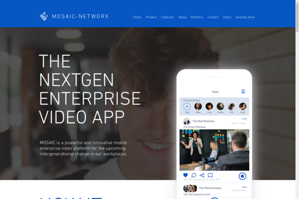 mosaic-networx.com - The Power Of Video In Your Pocket - B2B SaaS Platform iOS/Android/Web App