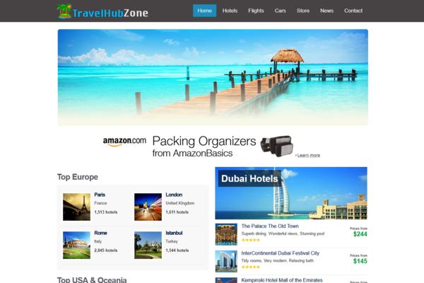 TravelHubZone.com - Fully Automated Hotel, Flight & Car Rental Website - Huge Profitable, No Reserve