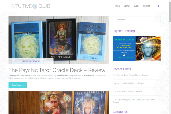 intuitive.club - Personal Blog about Tarot, Oracle and Intuition