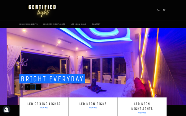 CertifiedLight.com - LED Chandeliers, Neon Signs & Nightlamps Premium domain worth $1,697  300% Profit Mark Up Dropship Worldwide New User Friendly