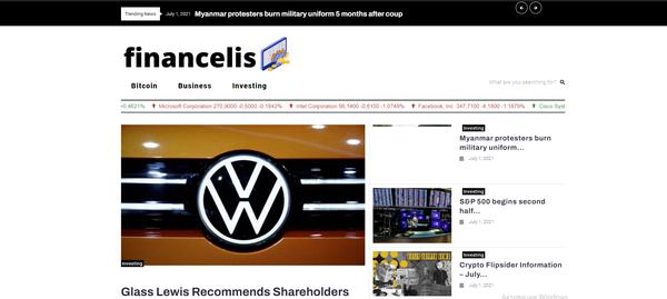 financelis.com - Finance Automated with Articles Rewriter Blog Site News. Get Organic Traffic!