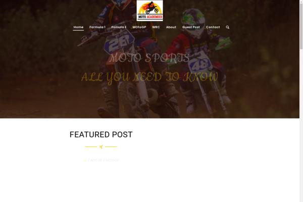 motoacademies.com - No Reserve | Premium MotoSports blog for sale with Unique Content