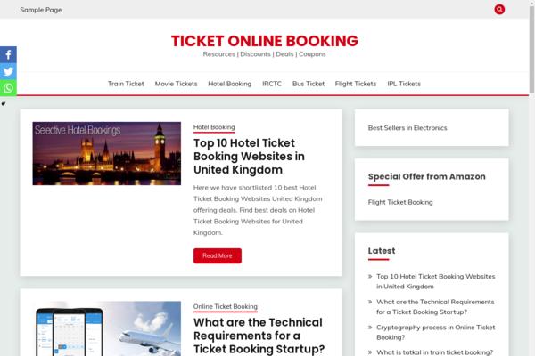 ticketonlinebooking.com - Ticket Online Booking.com - Travel Niche Blog