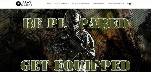 ArmyMaker.com - Premium TACTICAL Store, Easy to Operate, 100% DROPSHIP from USA - HUGE BIN BONUS