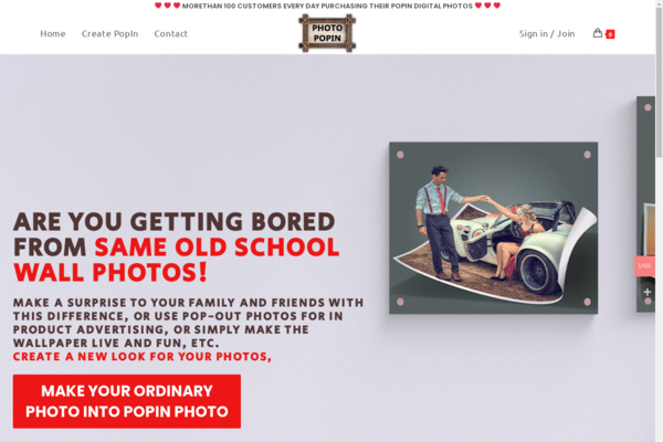 photopopin.com - Photopopin.com - Simple Photo editing service business, hassle-free maintenance