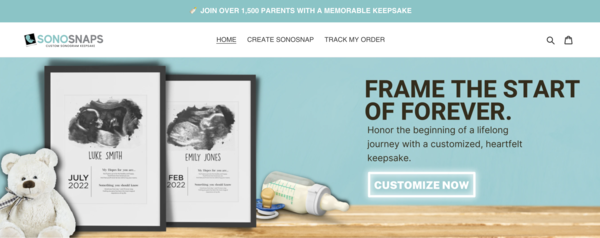 sonosnaps.com - Perfect Baby Keepsake Business | 100% Unique Product | Business Plan Included