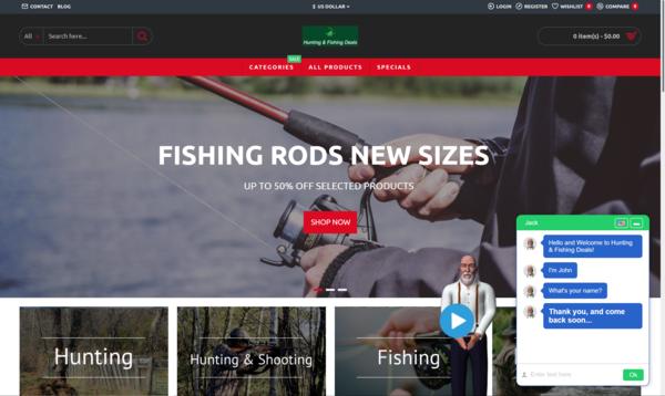 Hunting Fishing Deals - #1 Hunting & Fishing STARTER SITE   Mega Bonus   USA Products   Free Hosting & Support + Dropship Account   FB Ads + Training   LeadGen Report   Blog Articles