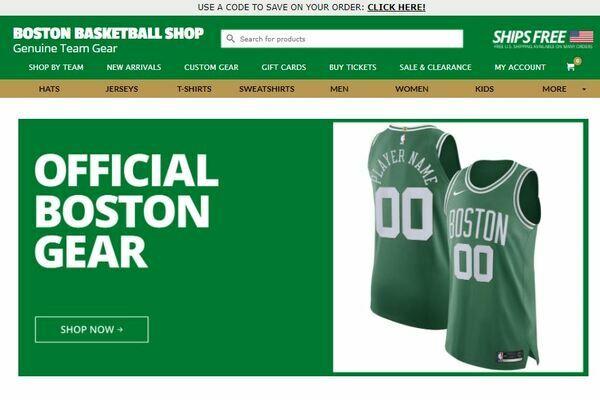 bostonbasketballshop.com - 30+ Online NBA Fan Shop Websites - Affiliate Marketing Business Network