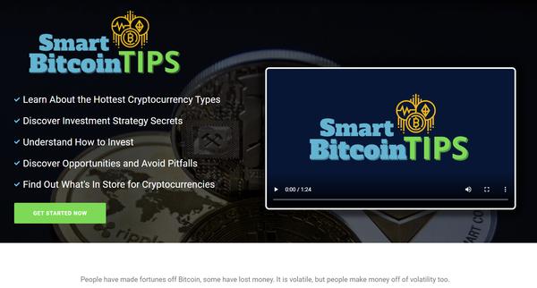 SmartBitcoinTips.com - Crypto eBook Guides and Videos eCom Store, Digital Product for Hands-Off Order Fulfilment, Custom Promo Video & Sales Graphics, WordPress & WooCom