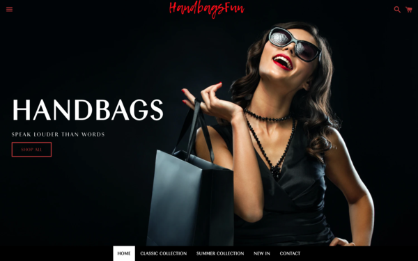 HandbagsFun.com - HandbagsFun.com | NO RESERVE | Dropshipping Handbag Store|$1,142  Domain Value