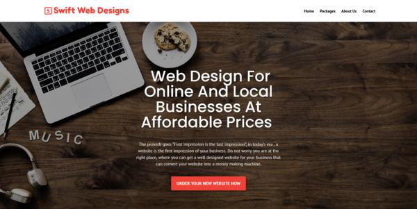 SwiftWebDesigns.co - PROFITABLE WEB DESIGN BIZ - Made $1820 in 3 Months. Recession Proof Biz
