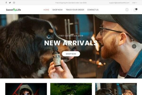 SweetCBDLife.com - Hemp-CBDOil Dropship Store. HOT NICHE. USA-European Suppliers, Brandable Domain