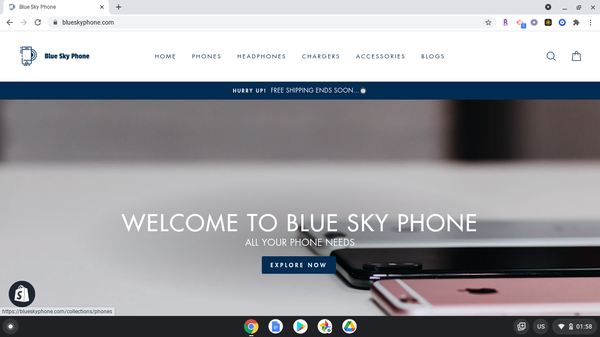 blueskyphone.com - Blue Sky Phone is a Phones and Accessories DROPSHIPPING Store on Shopify.