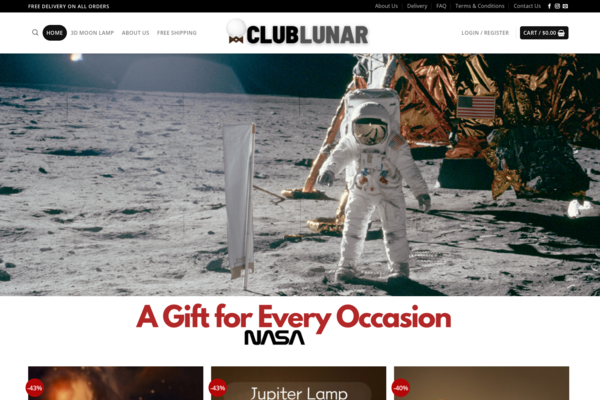 ClubLunar 3D Moon Lamp Dropshipping Store - Brand Wining Product Store/Automated Dropshipping store Moon Lamp Lunar/ No Programming Skills Needed, No Stock Needed, High-Profit Margin/ Earn Up To $5000 Mon