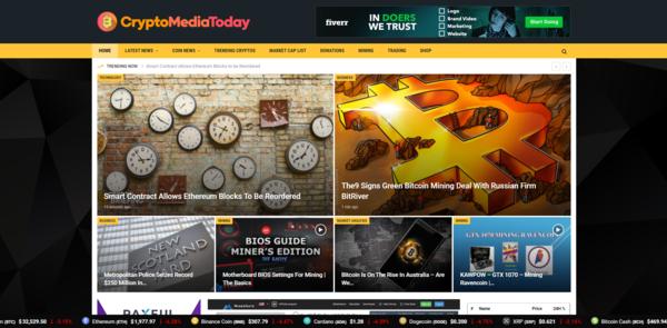CryptoMediaToday.com - Autopilot Crypto Bitcoin News Magazine Blog To Make Money Online