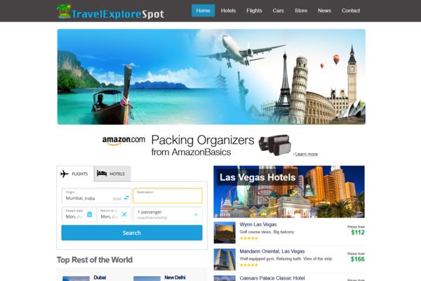 TravelExploreSpot.com - Fully Automated Hotel, Flight & Car Rental Website - Huge Profitable, No Reserve