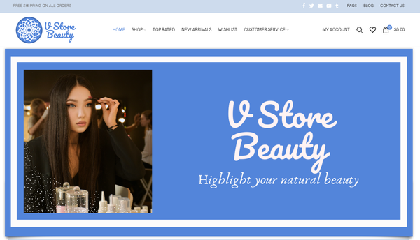 vstorebeauty.com - Automated Store, SEO Backlinks $4,500/Mo Potential, 19-years Domain -NO RESERVE!