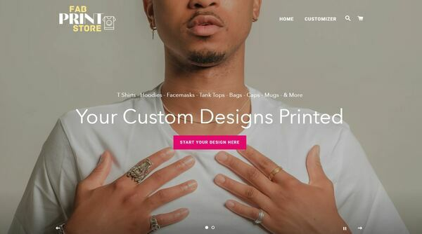 FabPrintStore.com - Shopify Dropship Print On Demand, Premium Domain wrth $1,122, US/EU suppliers