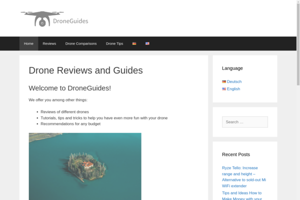 droneguides.net - My 2 y/o blog is about drones. I provide valuable insights, tips and reviews to my 3,800 readers every month (mostly US + German). Excellent preconditions.