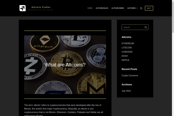 altcoinfisher.com - Starter Site For Crypto Bloggers