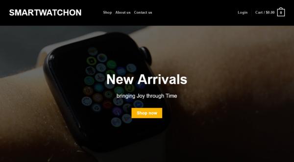 SmartwatchOn.com - SmartwatchOn.com- smartwatch Automated Dropshipping StoreDomain worth +$1,280