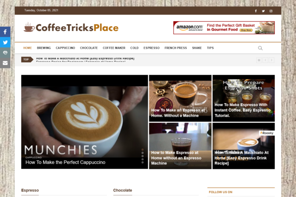CoffeeTricksPlace.com - Fully Automated Coffee Website - Huge Profitable Niche - No Experience Needed - High Potential - Low BIN