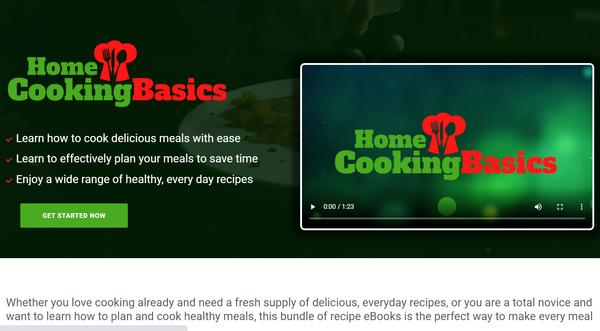HomeCookingBasics.com - Cooking and Recipe Book Bundle Store, Digital Product, Wordpress/WooCommerce