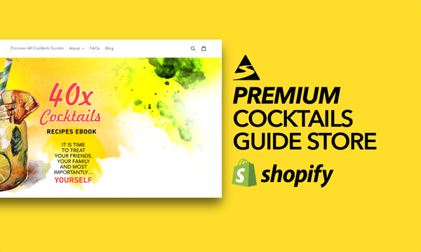 CocktailsGuides.com - Password: 1234 | Cocktail Ebook Shopify Store For Sale Startup Streams