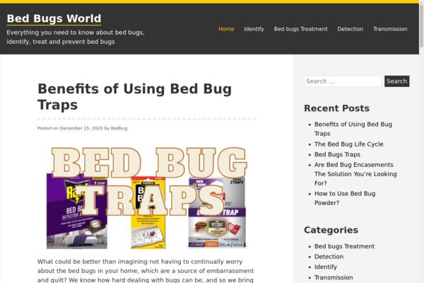 BedBugsWorld.com - High Quality Content Starter Site - 74K+ Words