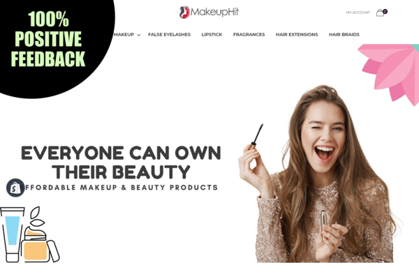 MakeupHit.com - BEAUTY MAKEUP Dropship STORE. Domain Value $1,255. USA & INTERNATIONAL MARKET.
