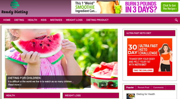 readydieting.com - Tap Into The MultiBillion Diet Niche With Your Own Ready-to-Go Diet website