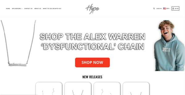 hypechains.com - $1,115,212 Sales in 2020 - Jewelry Niche, Valuable Celebrity Connections