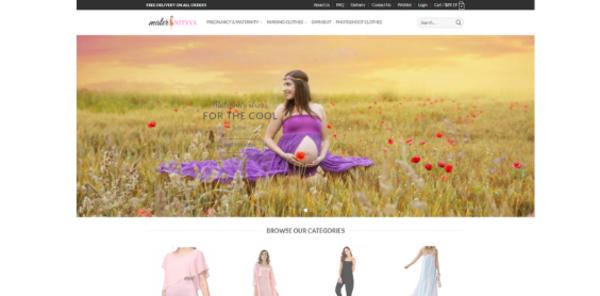 maternityya.com - maternity fashion clothing store - $156 startup Revenue, [$4k/mo Potential