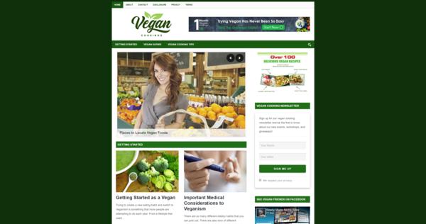 VeganCookings.com - High CTR WordPress Niche Website In Trending Niche | Low BIN Price |Amazing BIN Bonus - 20 WordPress Niche Websites In Popular Markets | High Earning Potential