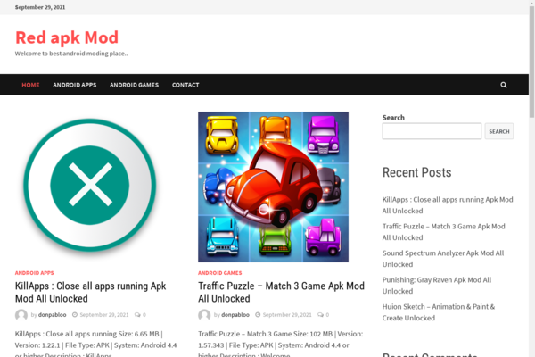 redapkmod.com - Auto post website it will post top new app and games for Android moded. You can earn up to 50$ to 100$ a day