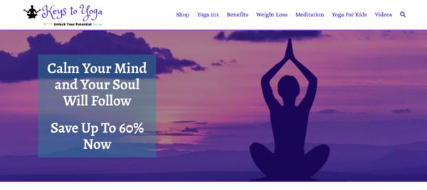 KeysToYoga.com - Optimized & Fast. 100% Automated Yoga eStore/Blog - Newbie Friendly - BIN Bonus.