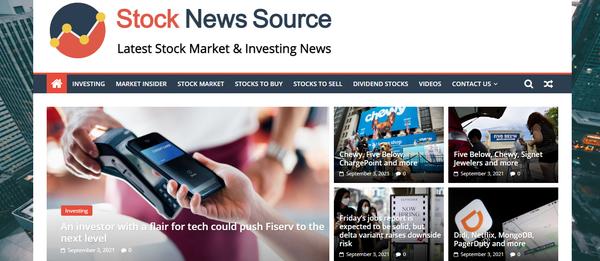 StockNewsSource.com - Hot Niche, Stocks Website, 100% Automated, Premium Design, BIN 1 year Hosting