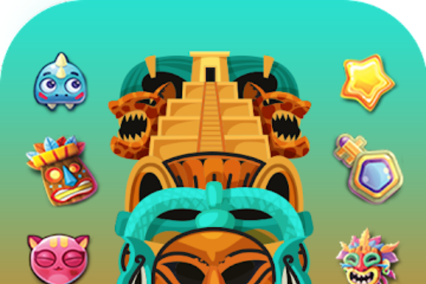 Mayan Match 3 Puzzle Game - Mayan Match 3 Puzzle Game - Ads smartly placed at each round.
