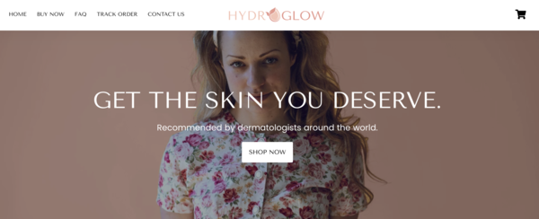 hydroglow.co - Selling a one-product branded dropshipping store with complete backend/apps set up and ready to make money!