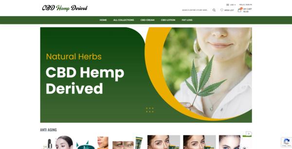 CBDHempDerived.com - Automated CBD/Hemp Derived Products Dropshipping Store,Trustworthy Supplier