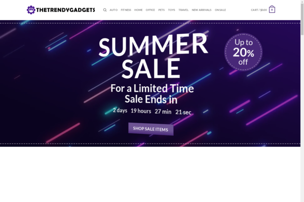 TheTrendyGadget.com - Trendy Gadget Superstore   $2500 Mth   Includes Training + Extras
