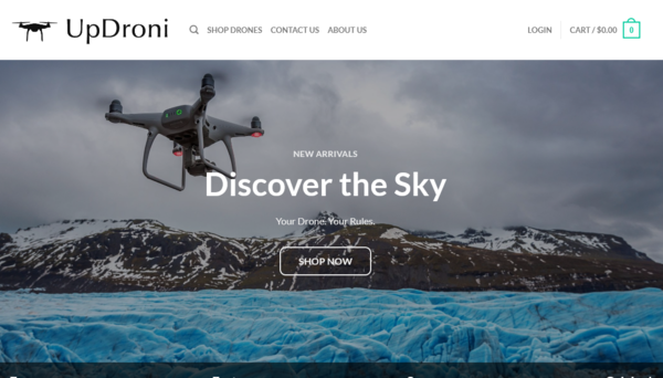 UpDroni.com - UpDroni.com automated drone dropshiping store worth+$1400-Noreserve