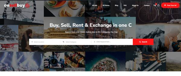 onsellbuy.com - Classified Ads Startup with Premium Design & Killer Domain Name.