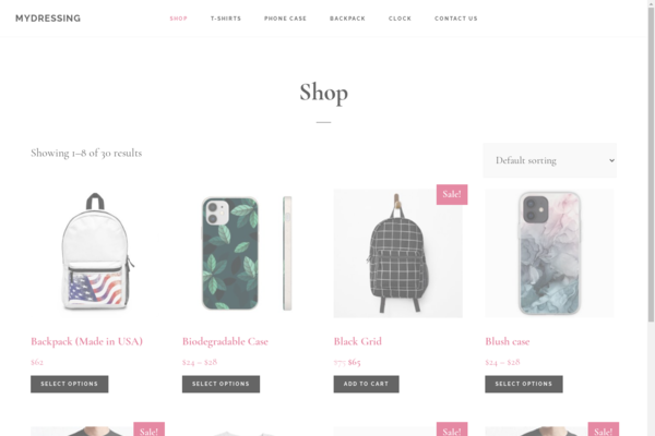 mydressing.store - Print on demand E-Shop with $1500++ PROFIT PER MONTH without any paid ads