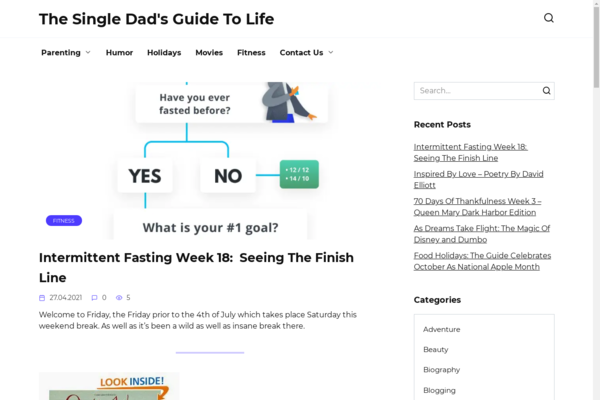 singledadsguidetolife.com - Website about parenting on wordpress in adsense. US organic traffic