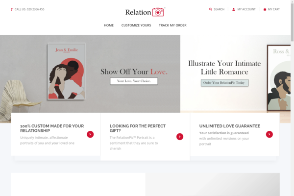 RelationPic™ | Perfect Gift Giving Business | 100% Unique Product | Business Plan Included - RelationPic.com is a professionally designed, SPEEDY starter store that sells 100% custom matte relationship portrait posters that are handmade by designers!