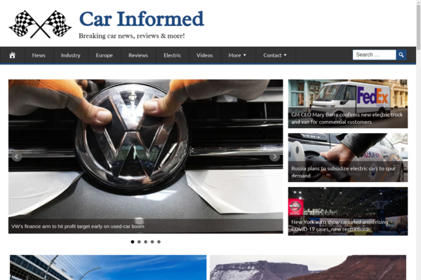 CarInformed.com - Premium Design AUTOMOTIVE / CAR News Site, 100% Automated, BIN Bonuses