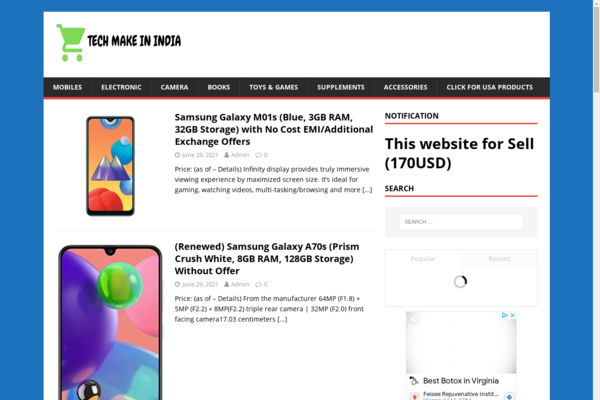 techmakeinindia.com - Autopilot Amazon Affiliate website with Google Approval
