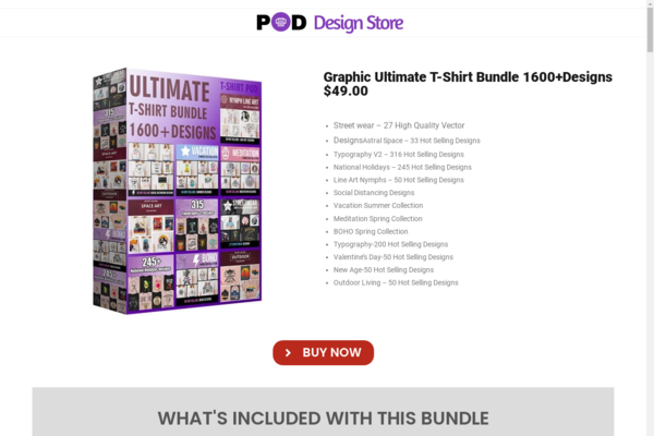 Pod (Print on Demand) Design Store - poddesignstore.com is POD Design Store where users can buy ready made POD designs & Kick Start their online POD Ecommerce Business.